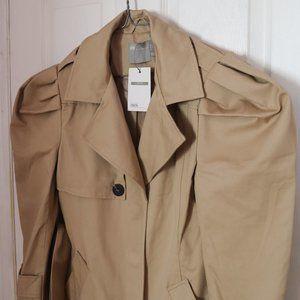 ASOS DESIGN Petite puff sleeve trench coat
